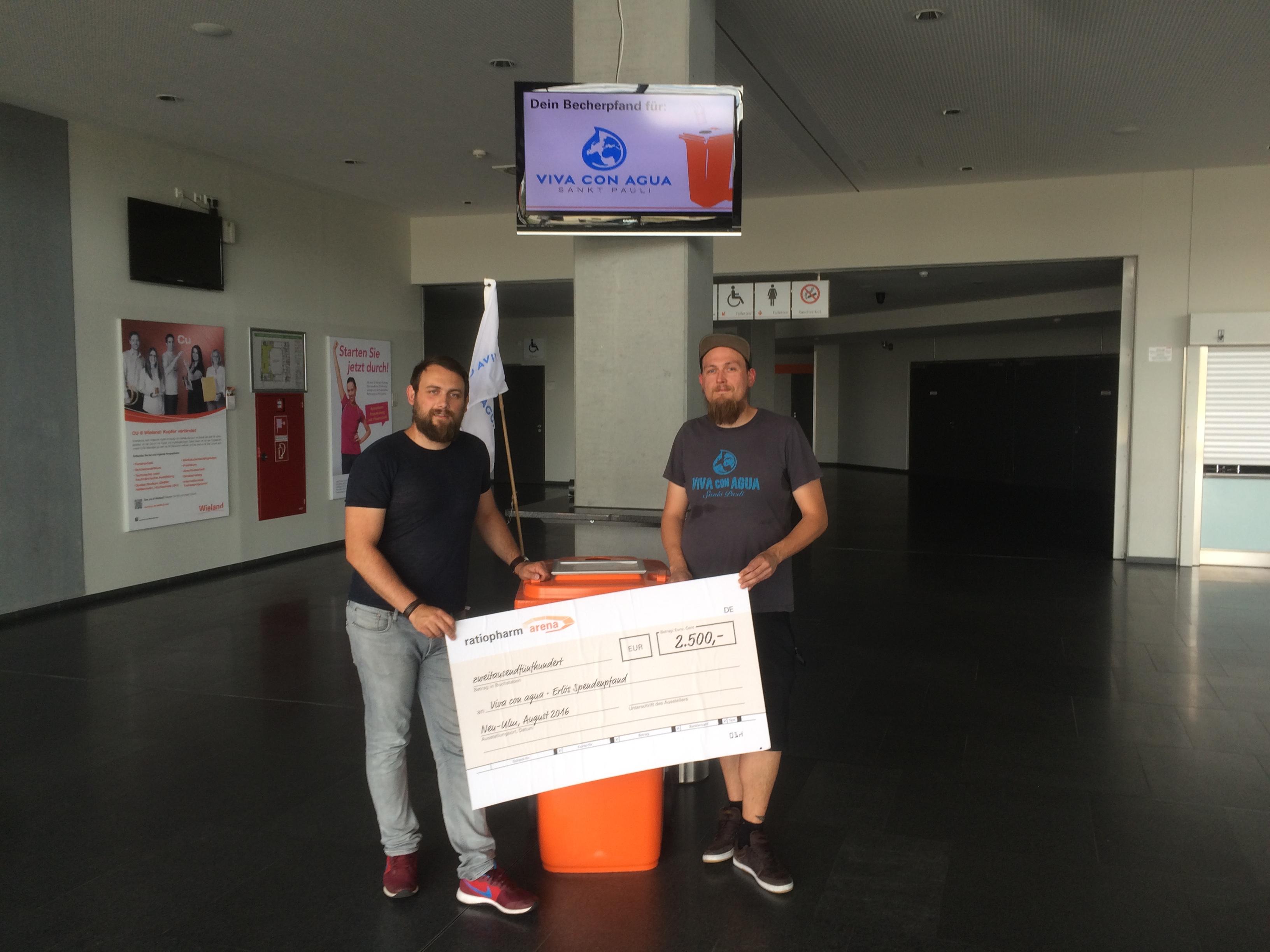 Ratiopharm Arena Ulmneu Ulm Spende Für Viva Con Agua